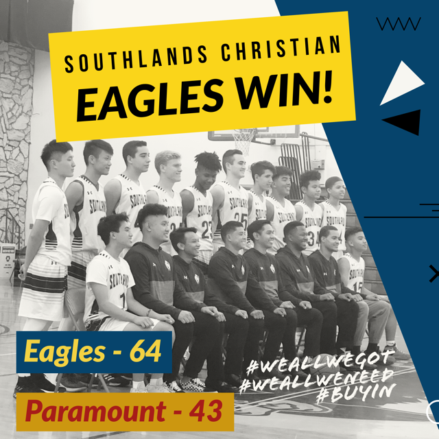 Boy's Varsity Basketball gets back on track with a big win versus Paramount HS