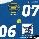 Lady Eagles Varsity Softball improve to 3-0 in league with a win over Capistrano Valley Christian