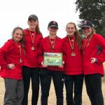 Girls Varsity Golf finishes 1st place at Yellow Jacket Invitational