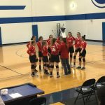 JH Volleyball A Teams Sweep Burnet in Second Round