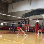 Lady Eagle Volleyball Prevails in Local Match Up