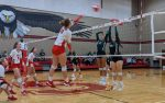 Lady Eagles Volleyball Defeat Taylor in Three