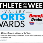 Grant Thies Athlete of the Week!!