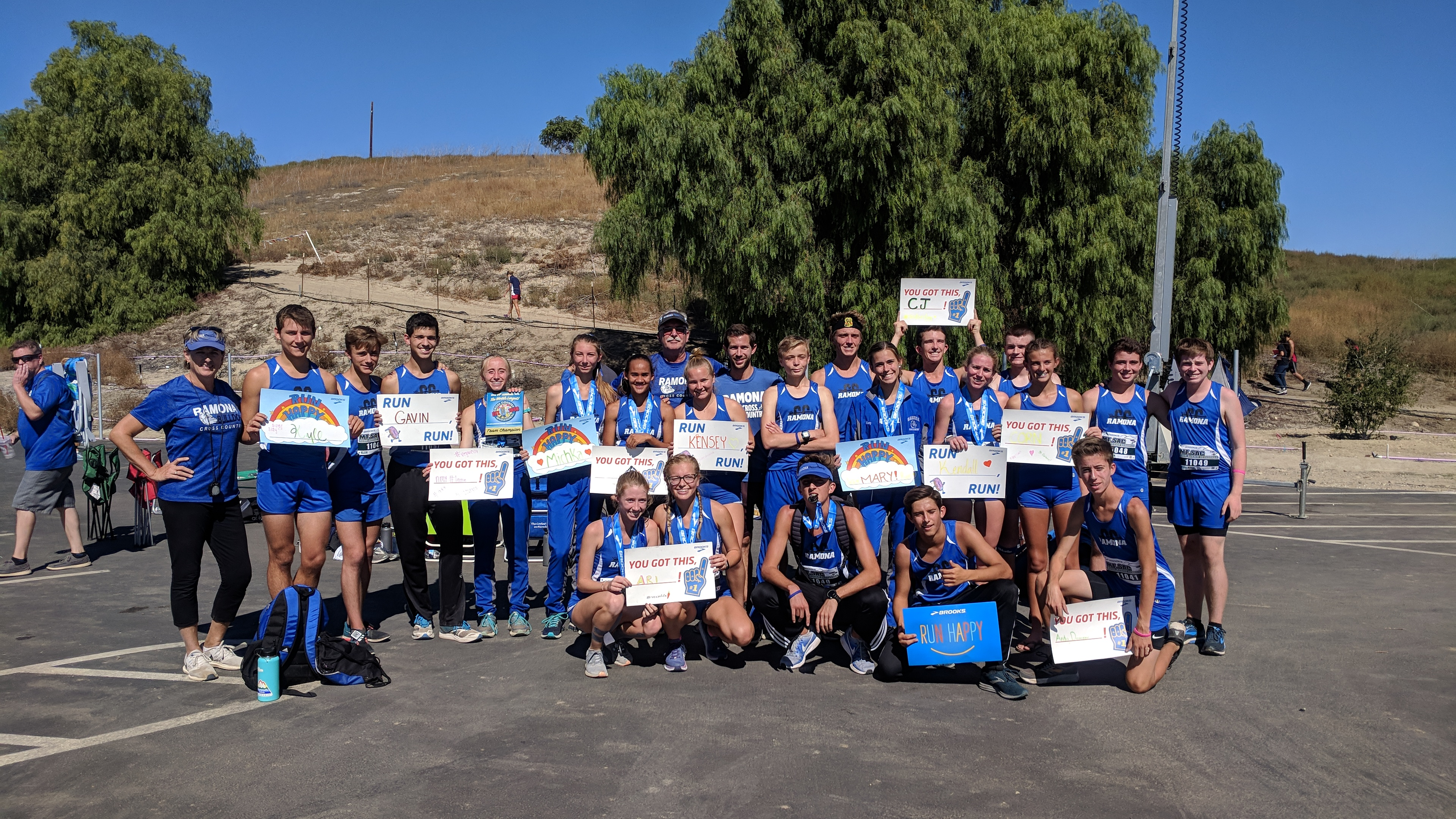 Ramona High Cross Country News….Girls Team Places 1st :)