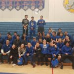 Wrestling Win on Senior Night gives team share of league title with 2 other teams!