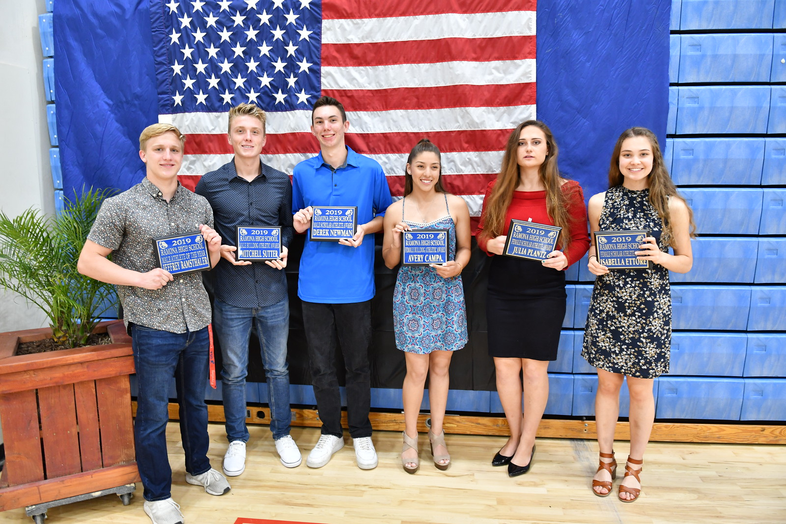 2018-19 Ramona High Athletic School Award Winners!