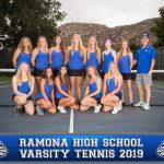 Girls Tennis has Huge Match with San Pasqual (9-9) Tie.