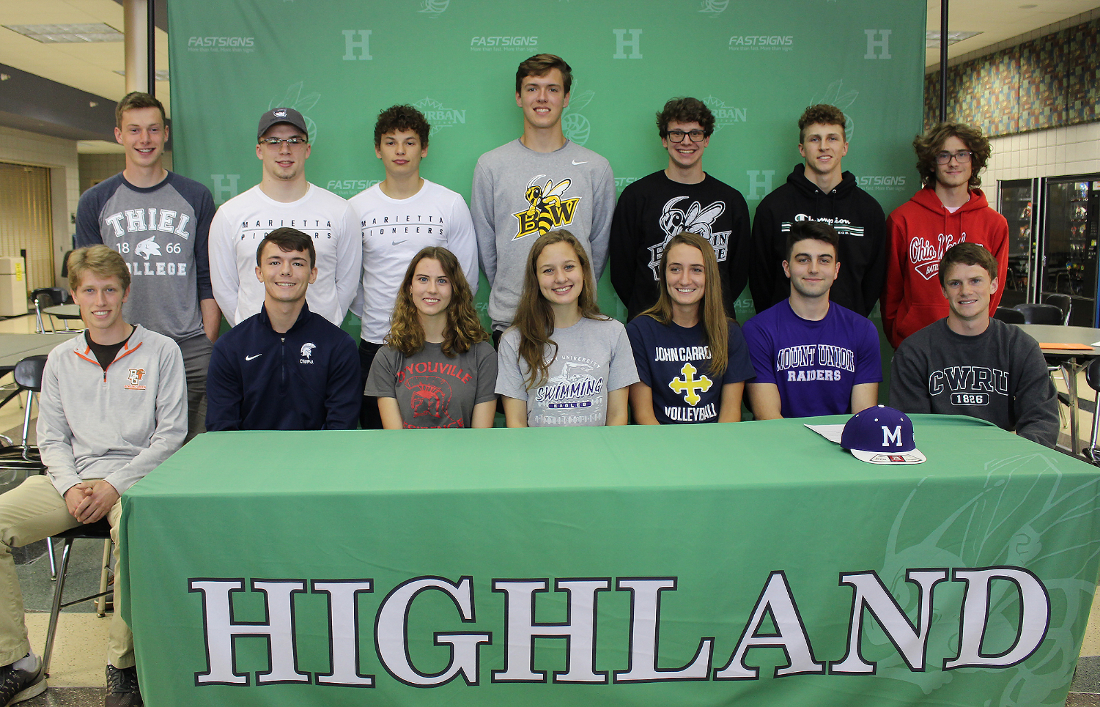 HHS Seniors Commit to DIII Colleges