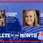 And the August Athlete of the Month is…