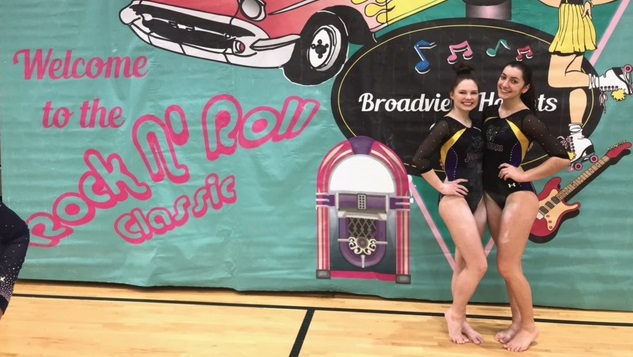 Gymnastics Finishes Fourth at Rock and Roll Invite