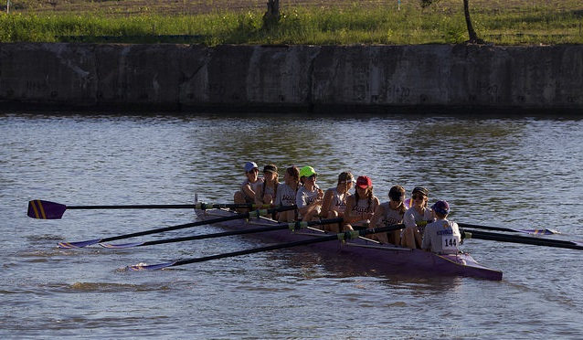 SJA Crew Opens Season at Head of the Cuyahoga Regatta; Two Boats Win Gold