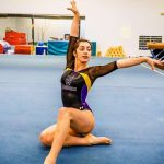 Sofie Buckley Competes at District Gymnastics