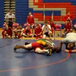Laurens District 55 High School Boys Varsity Wrestling beat Wade Hampton High School 45-35