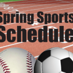 Spring Sports Schedules Now On Line