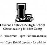 LDHS Cheerleading Kiddie Camp