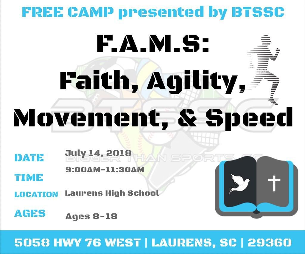 Free Camp for Ages 8 – 18