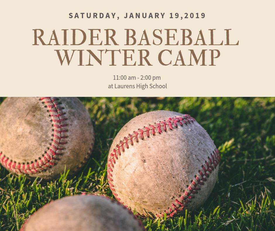 Raider Baseball Winter Camp