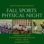 Fall Sports Physical Night