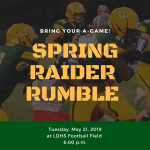 LDHS to Host Spring Football Game  And  Powderpuff Raider Rumble