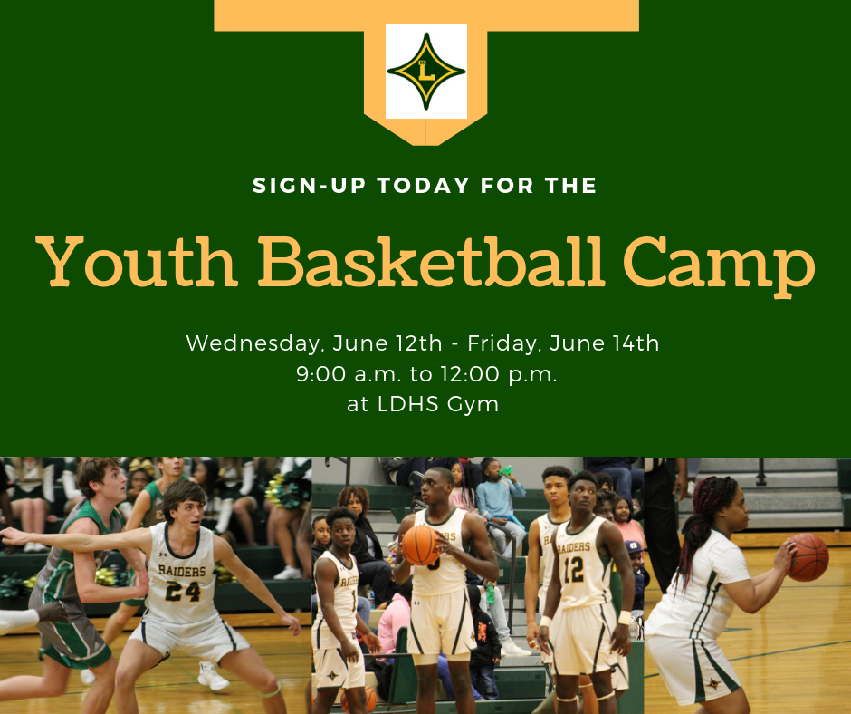 Youth Basketball Camp starts Wednesday, June 12, 2019