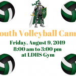 Youth Volleyball Camp Friday, August 9, 2019