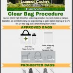 Let's Be CLEAR  Bag Requirements for LCSD 55 Events