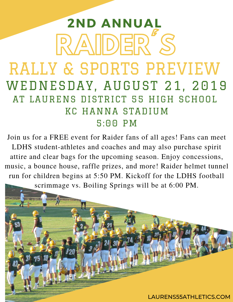 2nd Annual  Raiders' Rally & Sports Preview
