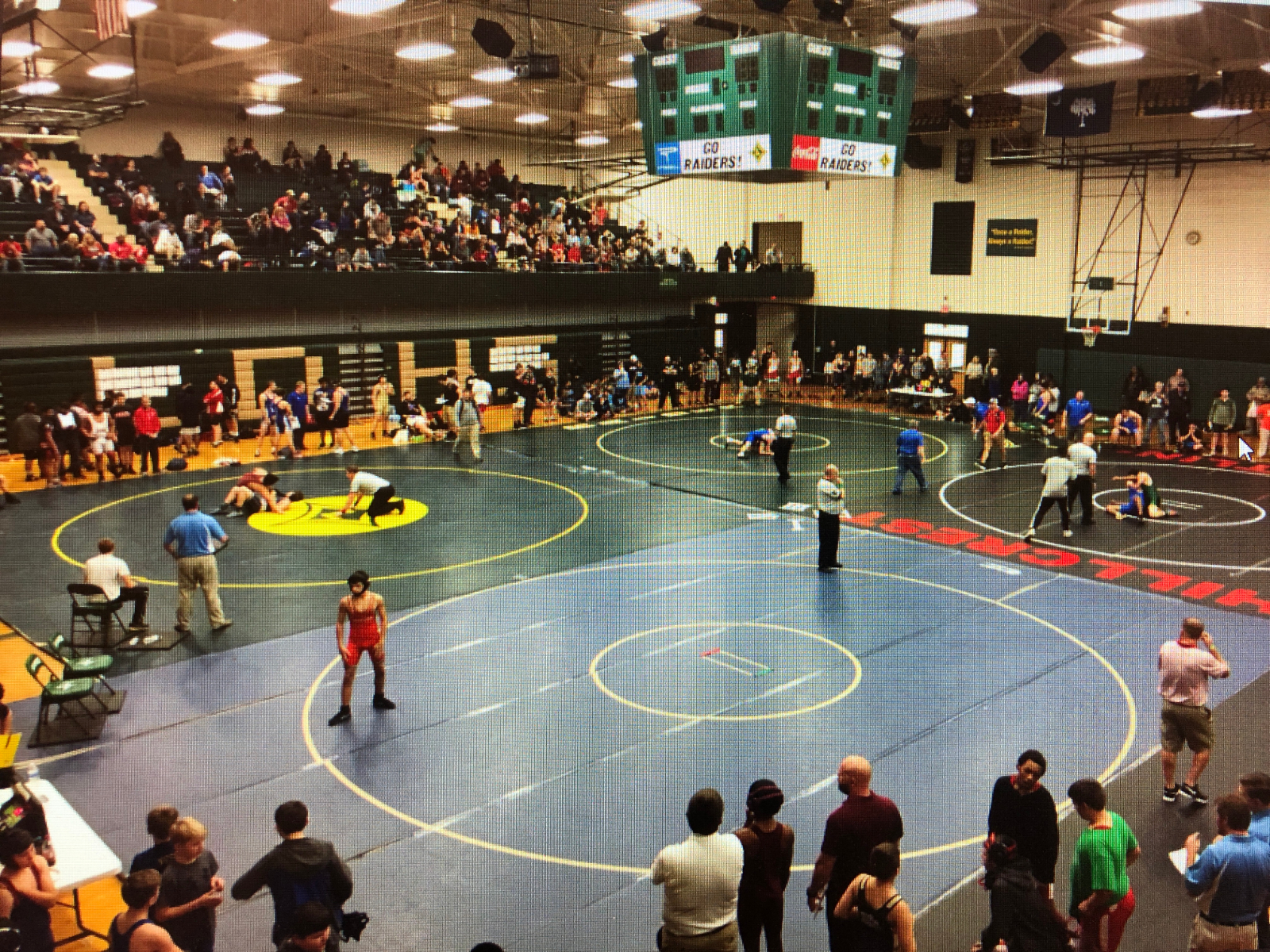Good Luck Wrestling and Middle School Basketball
