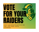 VOTE FOR THE RAIDERS in the SCHSL Spirit Challenge on Monday, May 4, 2020