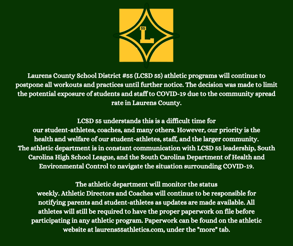 LCSD 55 Athletic Update