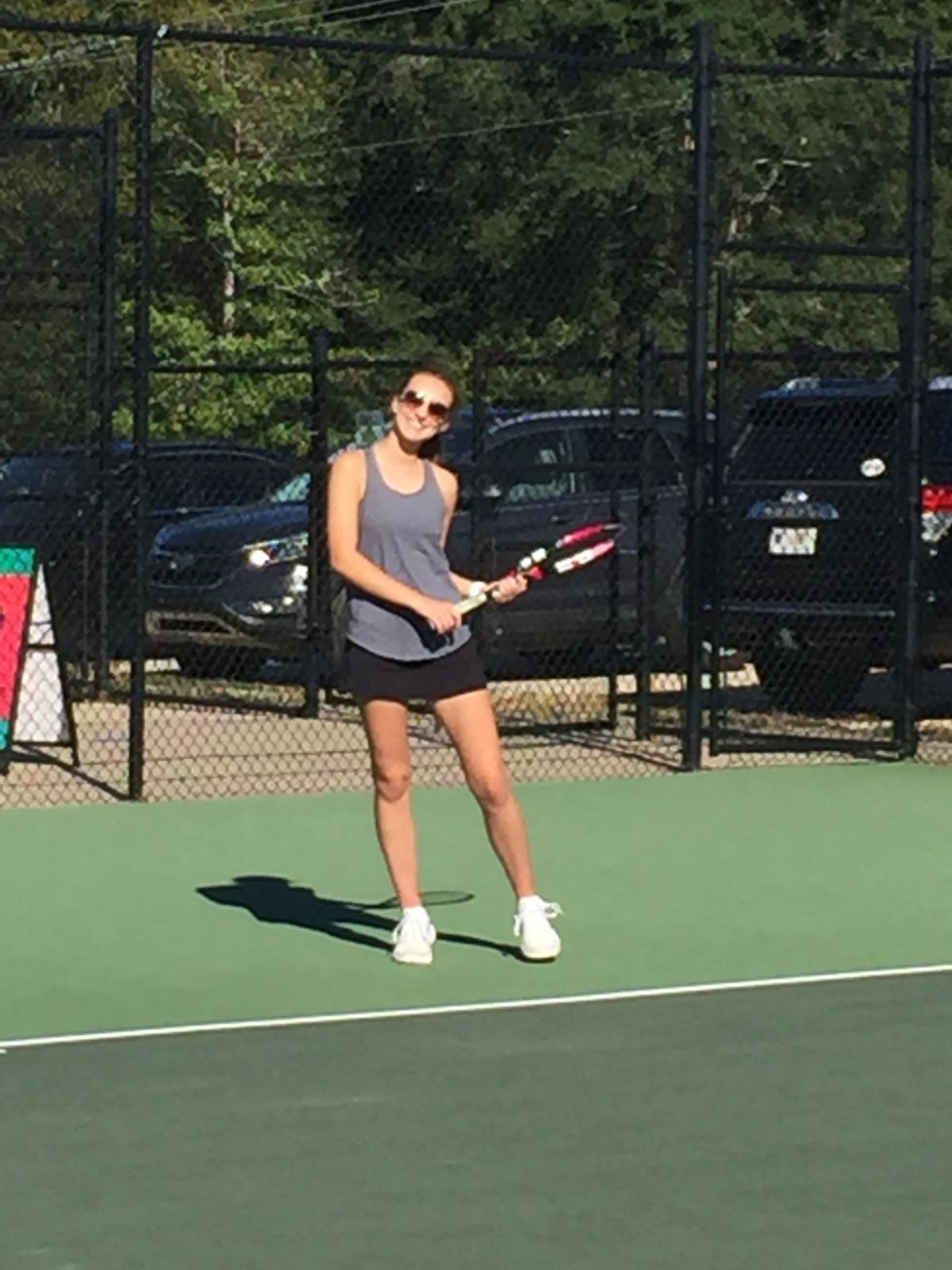 Raider Varsity Girls Tennis Greer Match