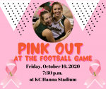 Pink Out Game Friday, October 16, 2020