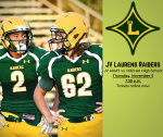 JV Football at Hillcrest High School Thursday, November 5, 2020