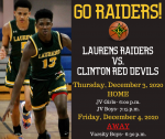 Raider Basketball vs. Clinton Information for December 3 and 4