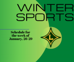 Winter Sports Schedule for the week of January 25-29!