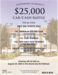 Car/Cash Raffle going on now!