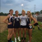 C.C. Girls 4 x 100 Relay Team Sets New Record