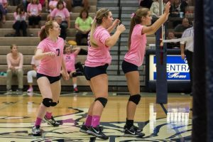 JV Volleyball vs. West Lafayette – Breast Cancer Night – 2015