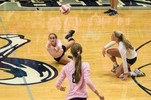 Volleyball vs. West Lafayette – Breast Cancer Night – 2015