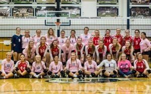 CC Varsity Volleyball vs Western Boone 2017-9-21