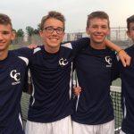 CC Knights Boys Tennis Team Defeats Frankfort HS