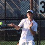 Knights Varsity Tennis beats the Delphi Oracles