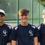 Knights Boys Tennis Team beats Crawfordsville