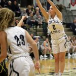 Girls Varsity Basketball beats Benton Central 44 – 43