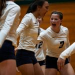 Knights Volleyball clean sweep Crawfordsville