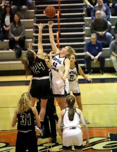 CC Girls Basketball Hoops Classic vs Benton Central 11-21-19