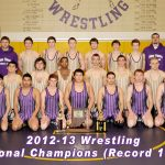 Wrestling Sectional Champions 2012-2013