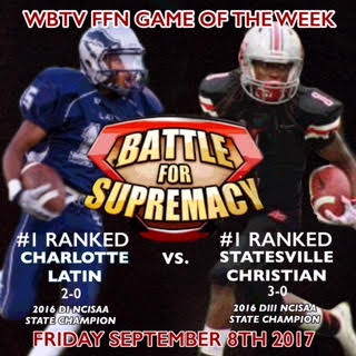 Statesville Christian Football gets WBTV FFN Game of the Week.