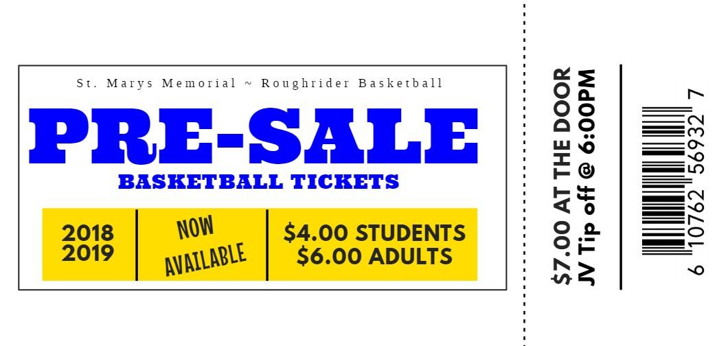 Pre-Sale Boys Basketball Tickets