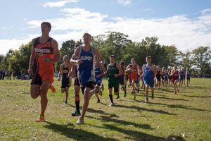 Varsity Cross Country at McLain State Park, 9/11/2014